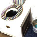 urine separator compost toilet