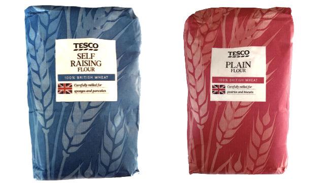 tesco self raising versus plain all purpose flour