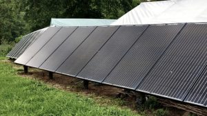 solar array in the garden
